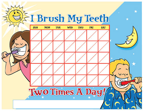 Color Brushing Chart for Children - Pediatric Dentist in Portland, OR